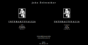 Entrance page of Interactivalia, a colection of interactive poetry.